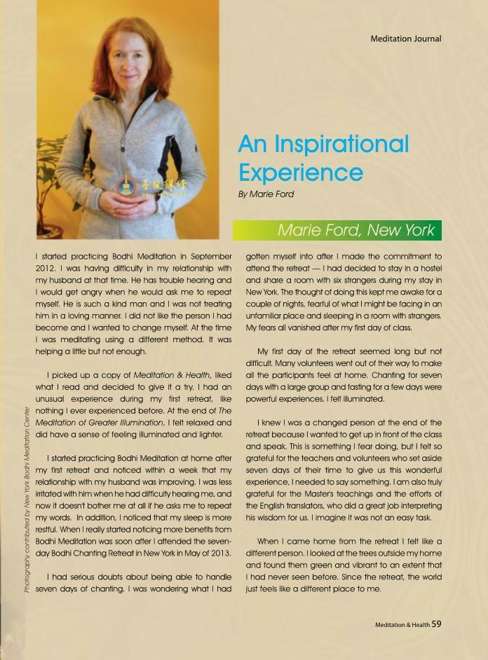 #10-An Inspirational Experience