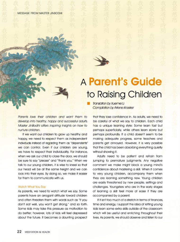 #13-A Parent's Guide to Raising Children