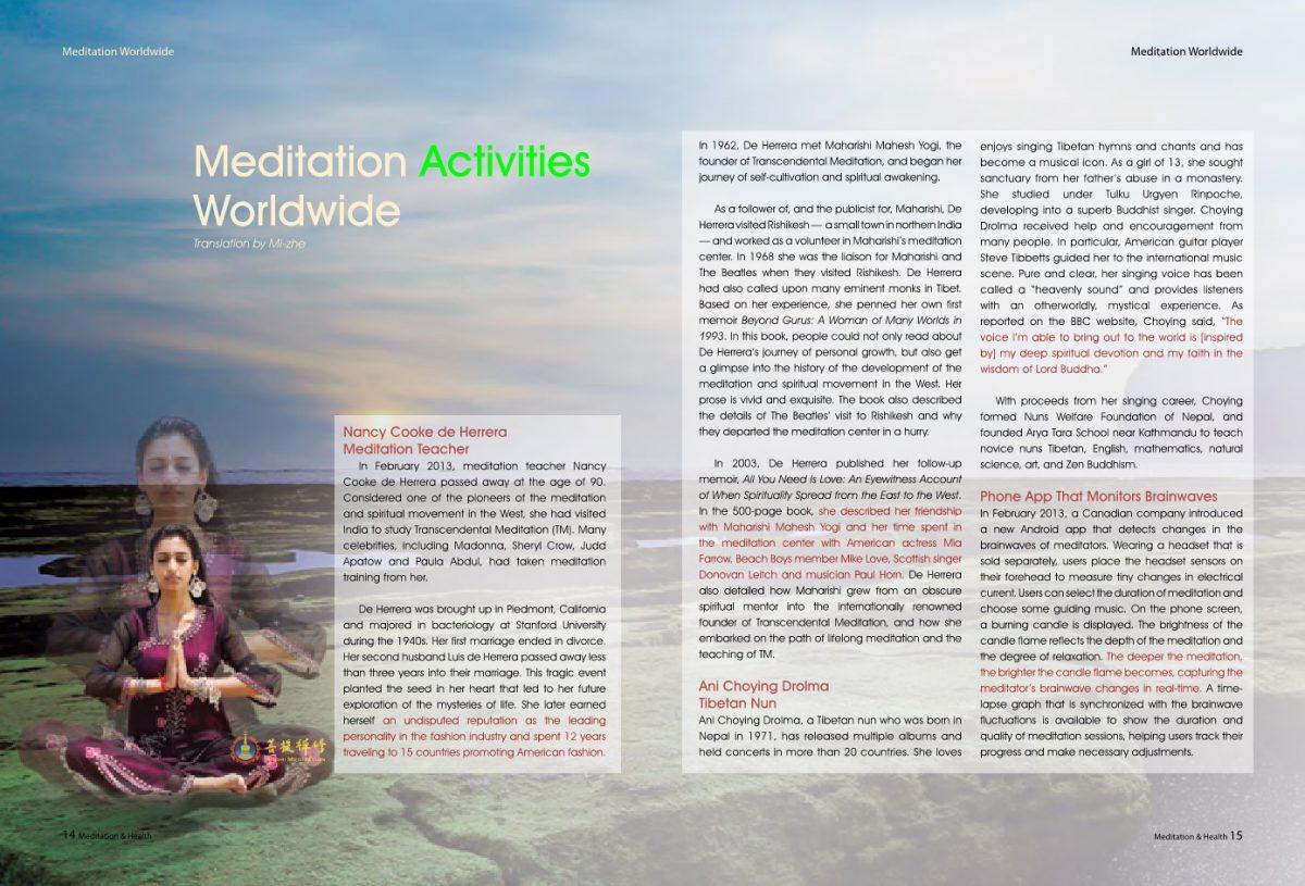#8-Meditation Activities Worldwide