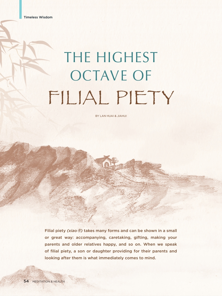 #25 –  The Highest Octave of Filial Piety