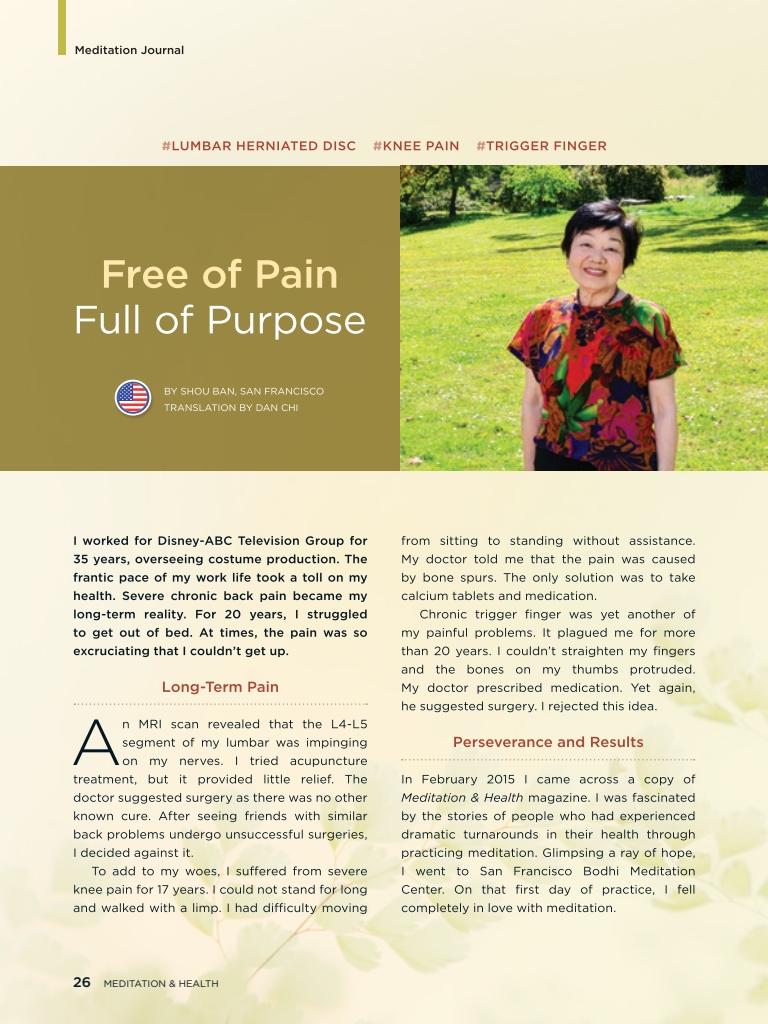 #26 – Free of Pain, Full of Purpose