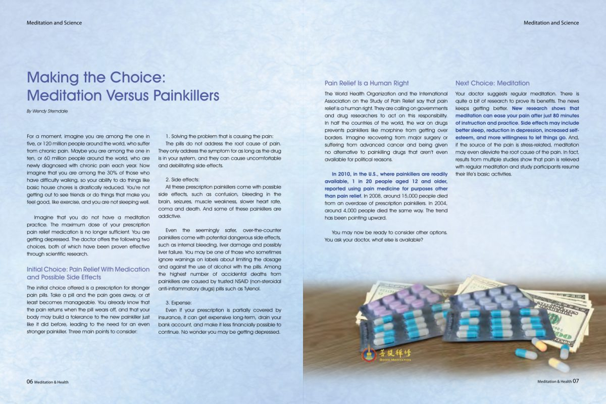 #6 – Making the Choice Meditation Versus Painkillers